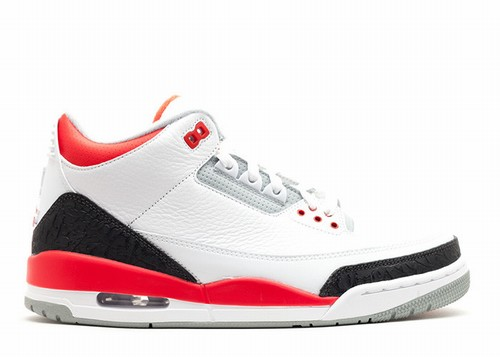 Air Jordan 3 White Fire Red